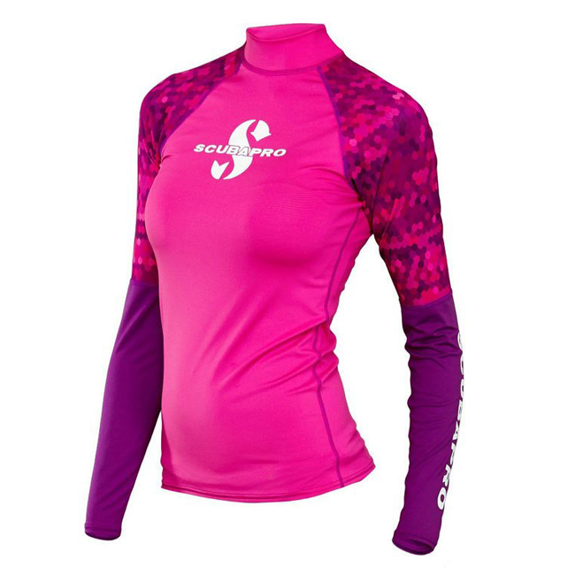 Футболка из лайкры Scubapro Rash Guard Flamingo UPF 50